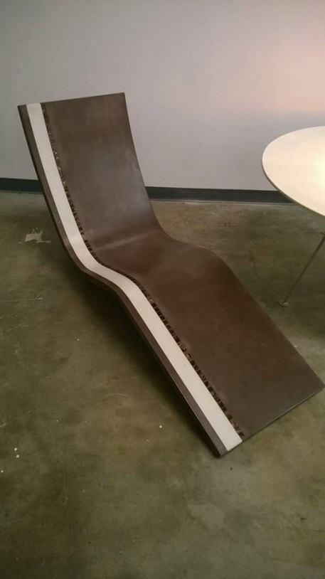 Custom Lounge Chair brown