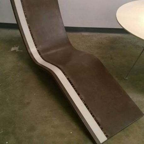 Custom Lounge Chair brown