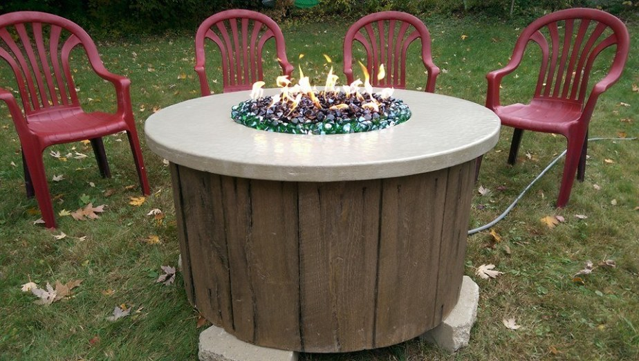 GFRC Firepit Wood you believe