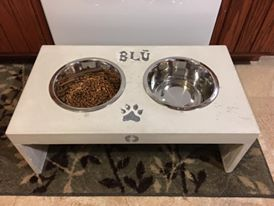 Double Dog Bowl Table